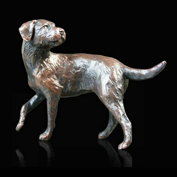 Small Border Terrier (822) in bronze by Michael Simpson