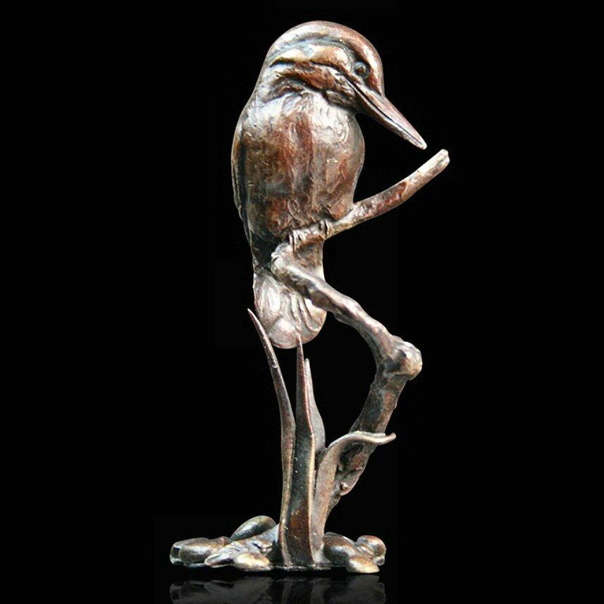 Small Kingfisher (810) in bronze by Michael Simpson