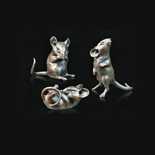 Three Little Mice (775) in bronze by Michael Simpson