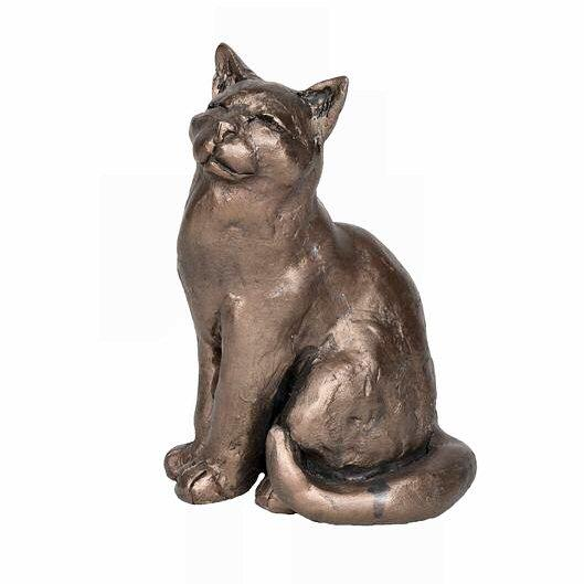 Ellie the Cat - Bronze Sculpture - Paul Jenkins S196