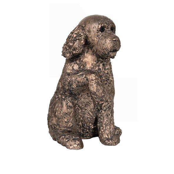 Clover Cockapoo - Bronze Dog Sculpture - Adrian Tinsley AT045
