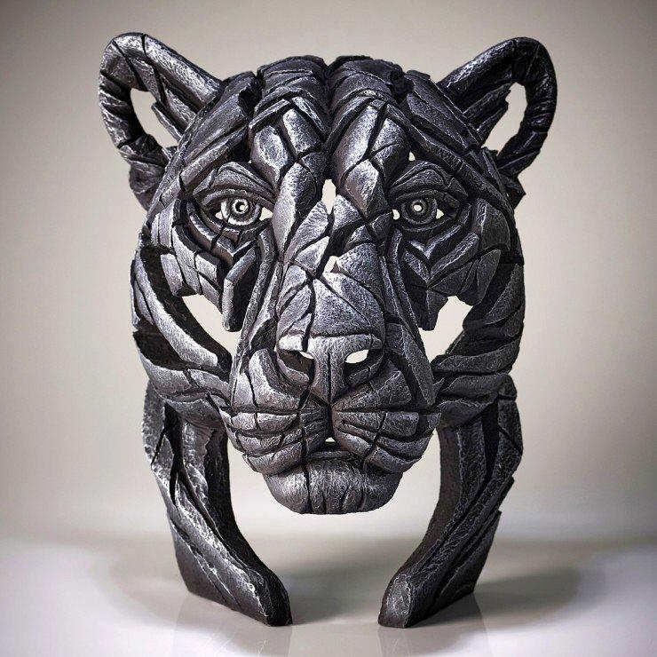 Black Panther Bust - Silent Silver - Limited Edition EDGE EDB21SV