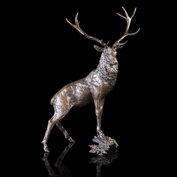 Pride of the Glen - Bronze Stag Sculpture - Michael Simpson 1136