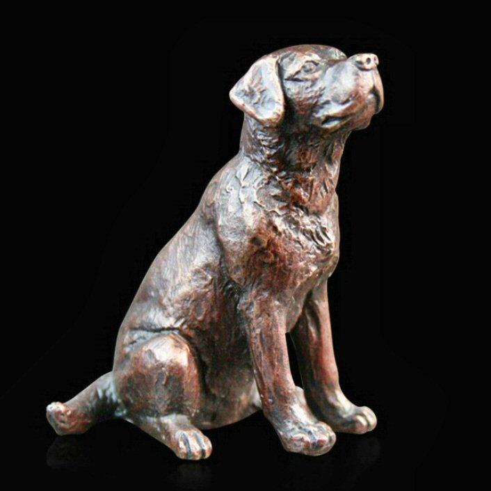 Small Labrador Sitting (864) in bronze by Michael Simpson