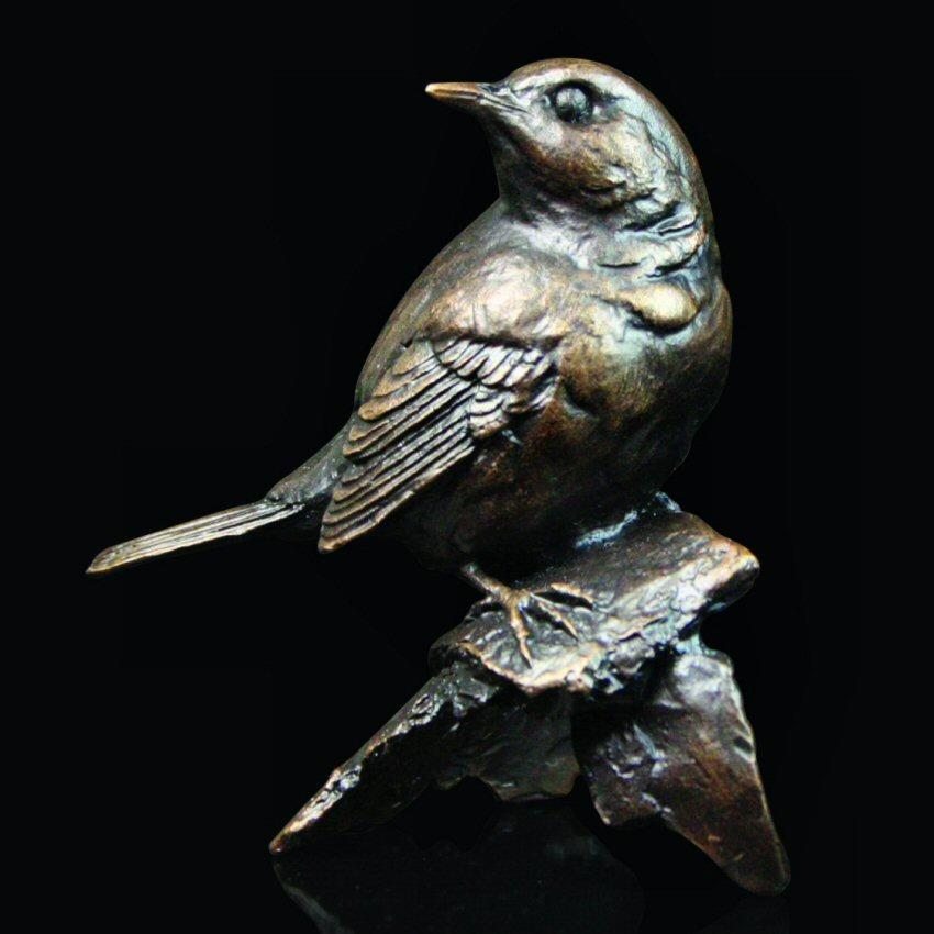 Robin - Bronze Bird Sculpture - Michael Simpson - 535