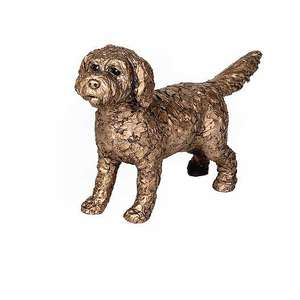 Sparky the Cockapoo - Bronze Dog Sculpture - Adrian Tinsley AT046