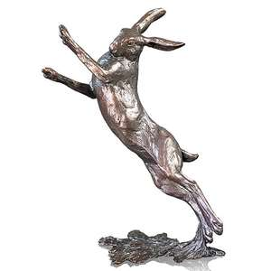 Medium Hare Boxing by Michael Simpson - Bronze Sculpture - 1117