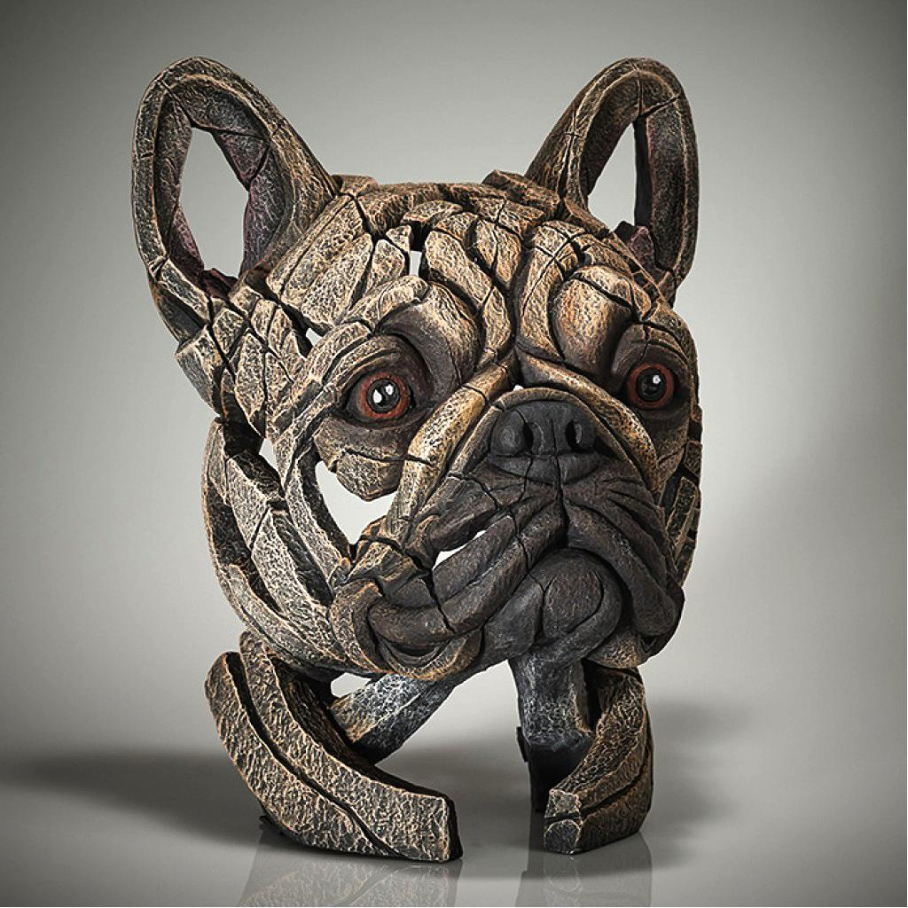 French Bulldog Bust - Fawn - EDGE Sculpture EDB28F
