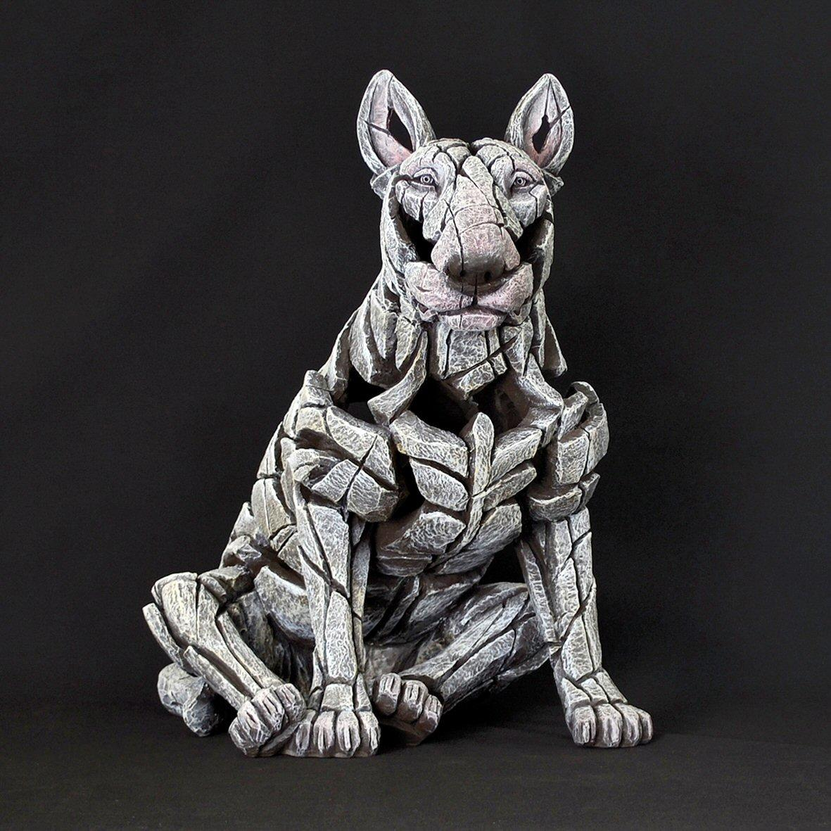 Bull Terrier Sitting - White ED23W EDGE by Matt Buckley