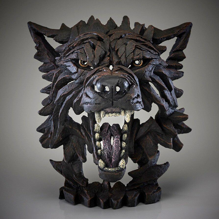 Wolf Bust - 'Fenrir' in Black EDB04F EDGE by Matt Buckley