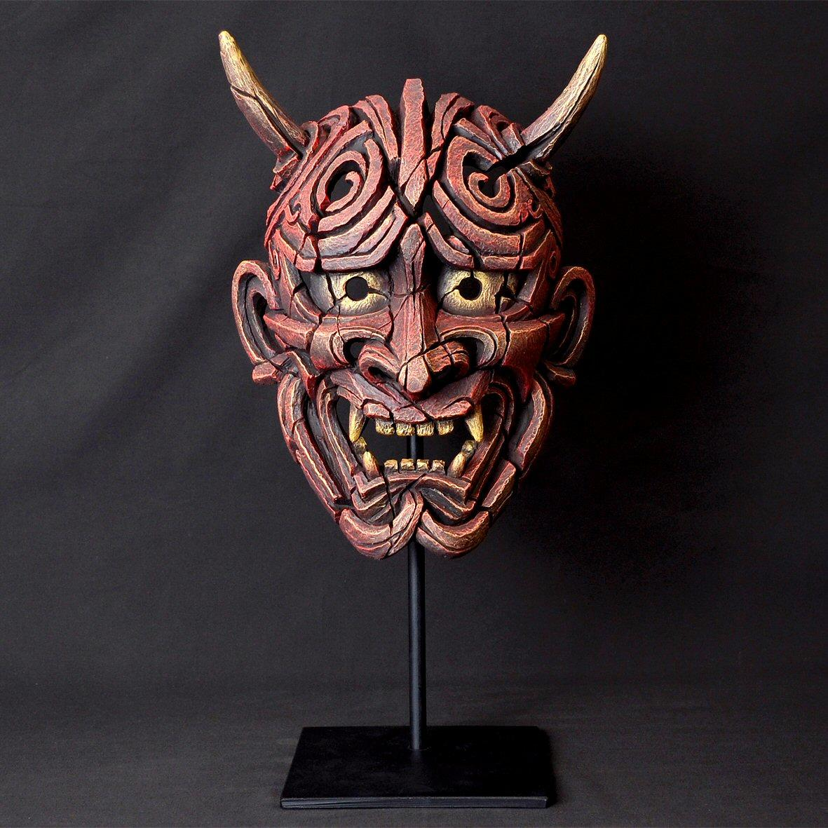 Japanese Hannya Mask - Red EDM01R EDGE by Matt Buckley