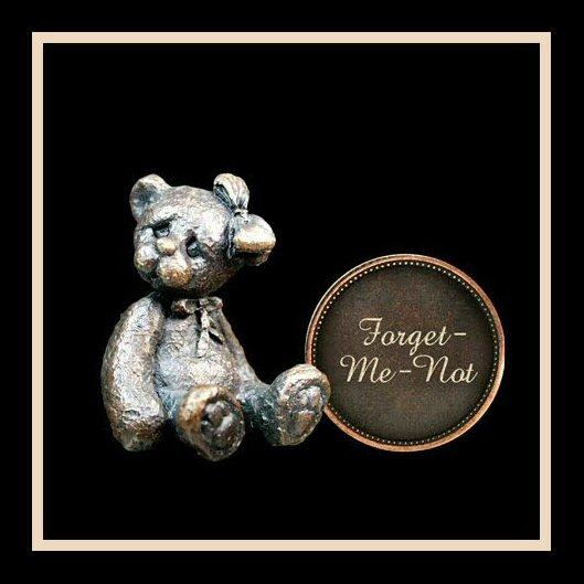 Forget-Me-Not (3009) - Penny Bear range of bronze sculptures