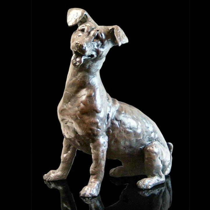 Jax - Jack Russell (209BR) - Bronze Sculpture by Grant Palmer