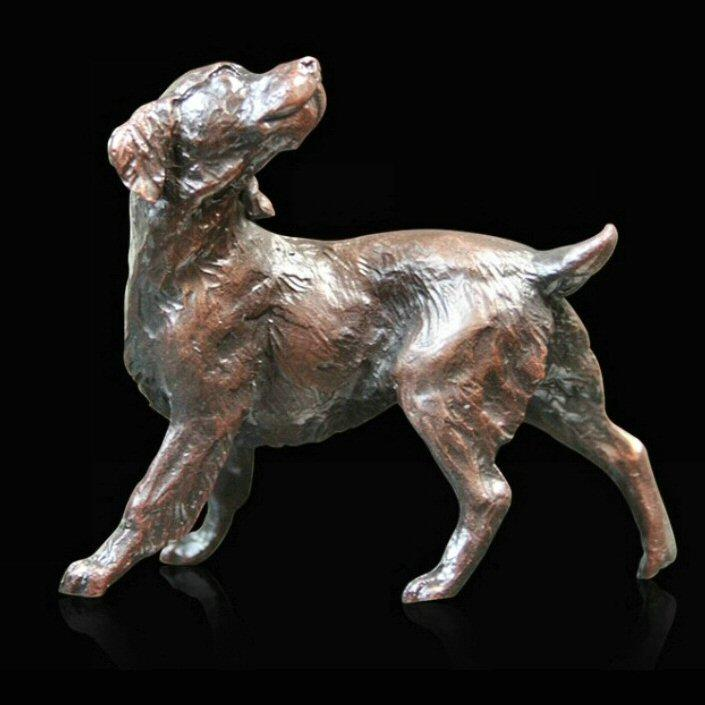 Small Springer Spaniel (825) in bronze by Michael Simpson