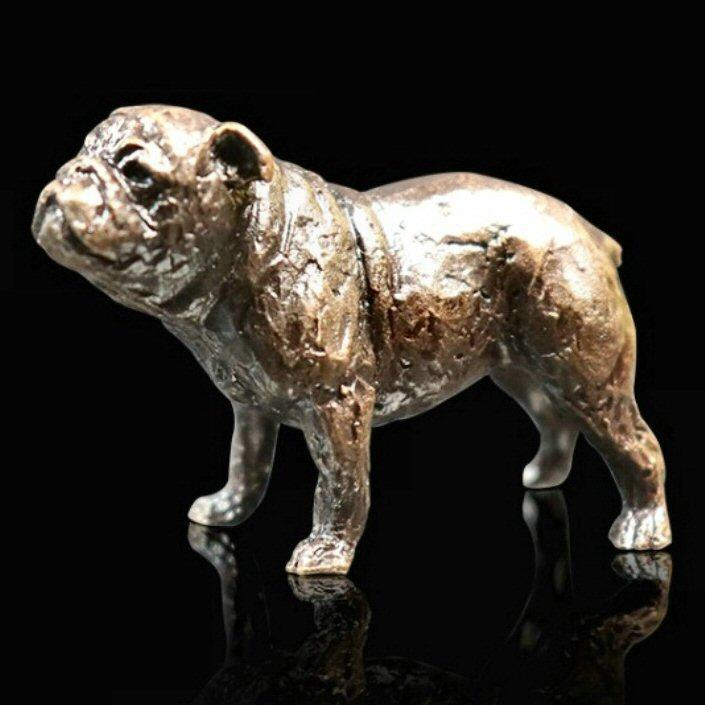 English Bulldog - Miniature Bronze Sculpture - Butler & Peach 2086