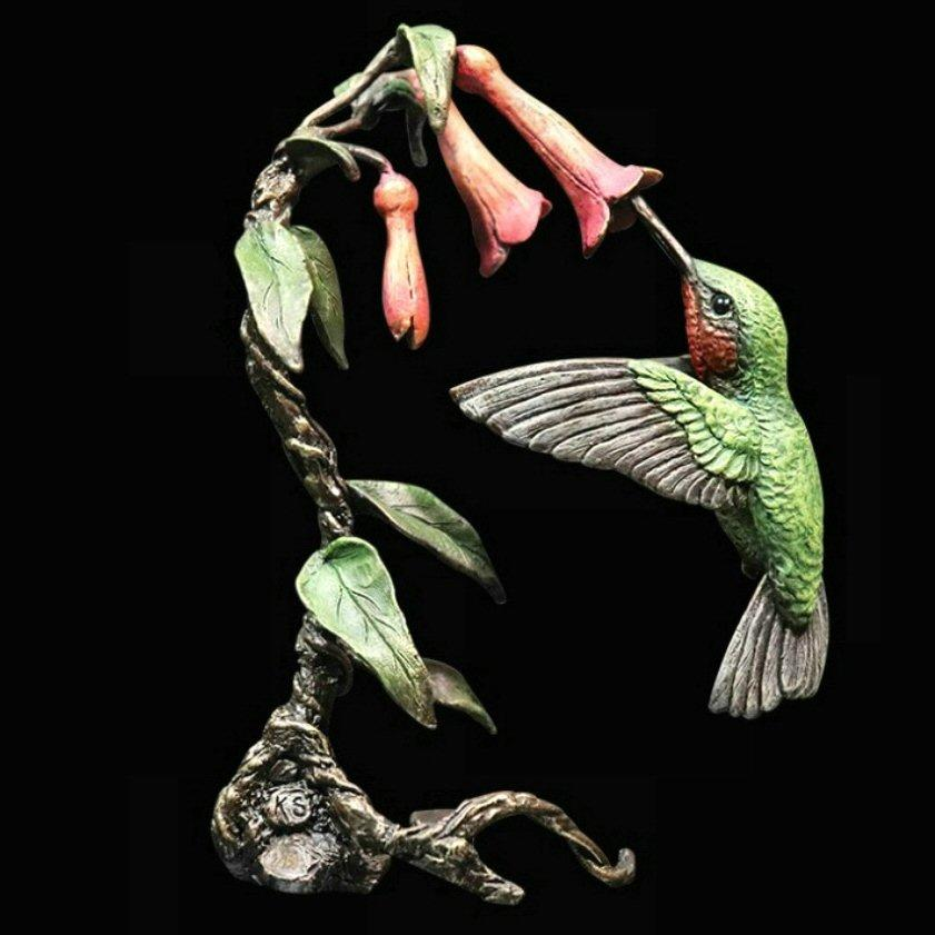 Hummingbird - Bronze Sculpture in Display Box - Keith Sherwin - 1081