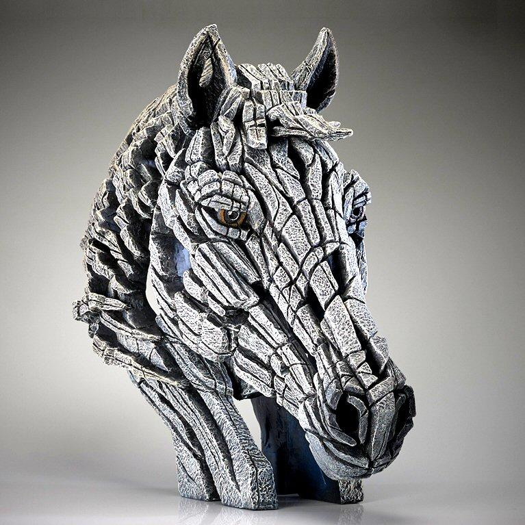 Horse Bust - White EDB18W EDGE by Matt Buckley