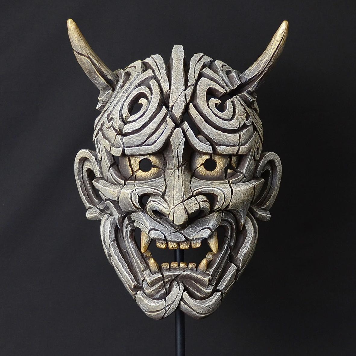 Japanese Hannya Mask - White EDM01W EDGE by Matt Buckley