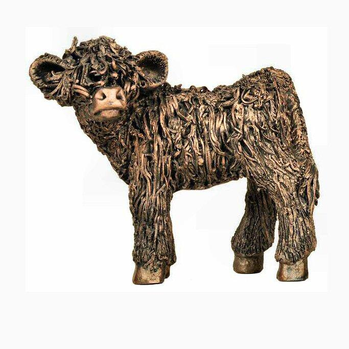 Highland Calf Standing (VB058) by Veronica Ballan