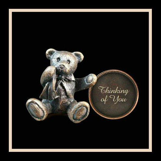 Thinking of You (3011) - Penny Bear range of bronze sculptures