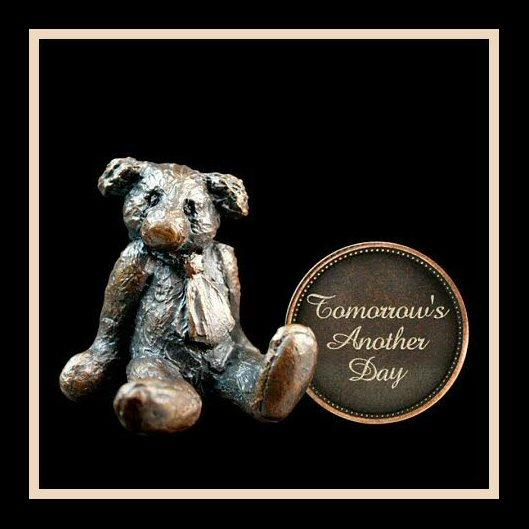 Tomorrow's Another Day (3003) - Penny Bear range of bronze sculptures