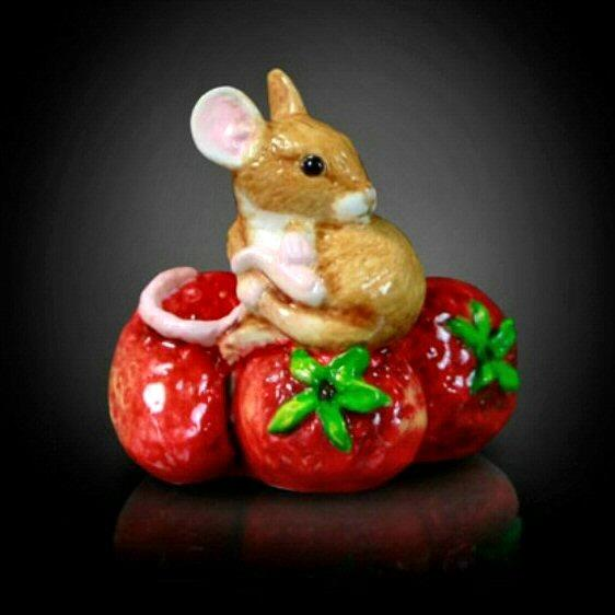Mouse on Strawberries (120BC) - by Keith Sherwin