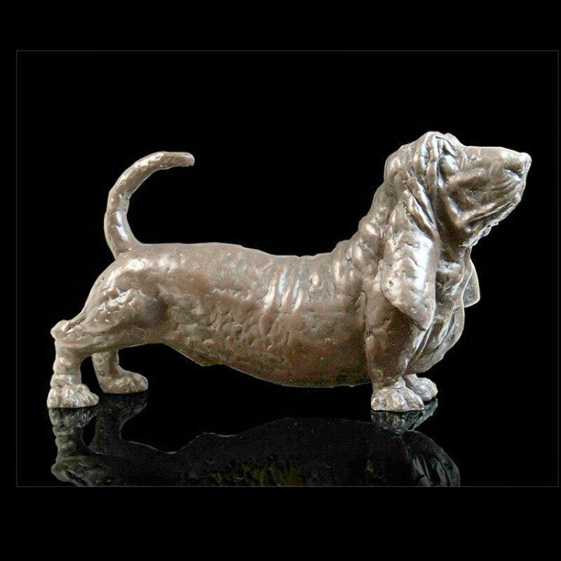 Barry - Basset Hound (203BR) - Bronze Sculpture by Grant Palmer