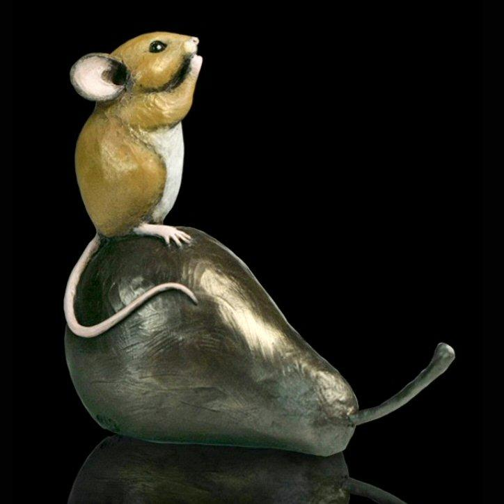 Mouse on Pear (240BR) by Michael Simpson