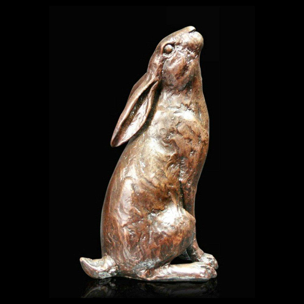 Medium Hare Moon Gazing (1013) in bronze by Michael Simpson