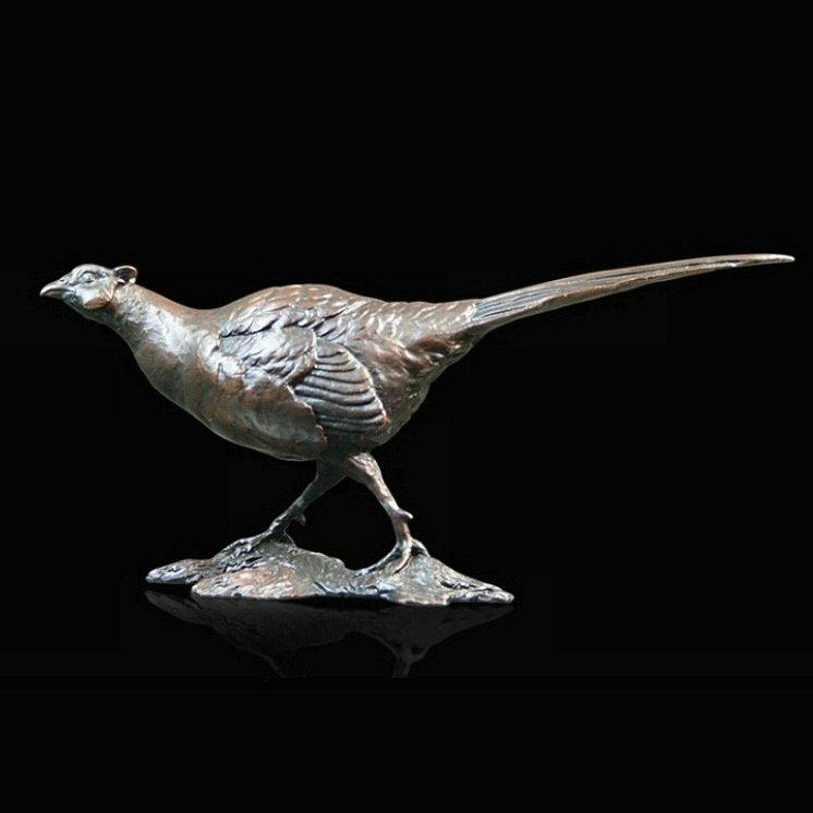 Small Pheasant (840) in bronze by Michael Simpson