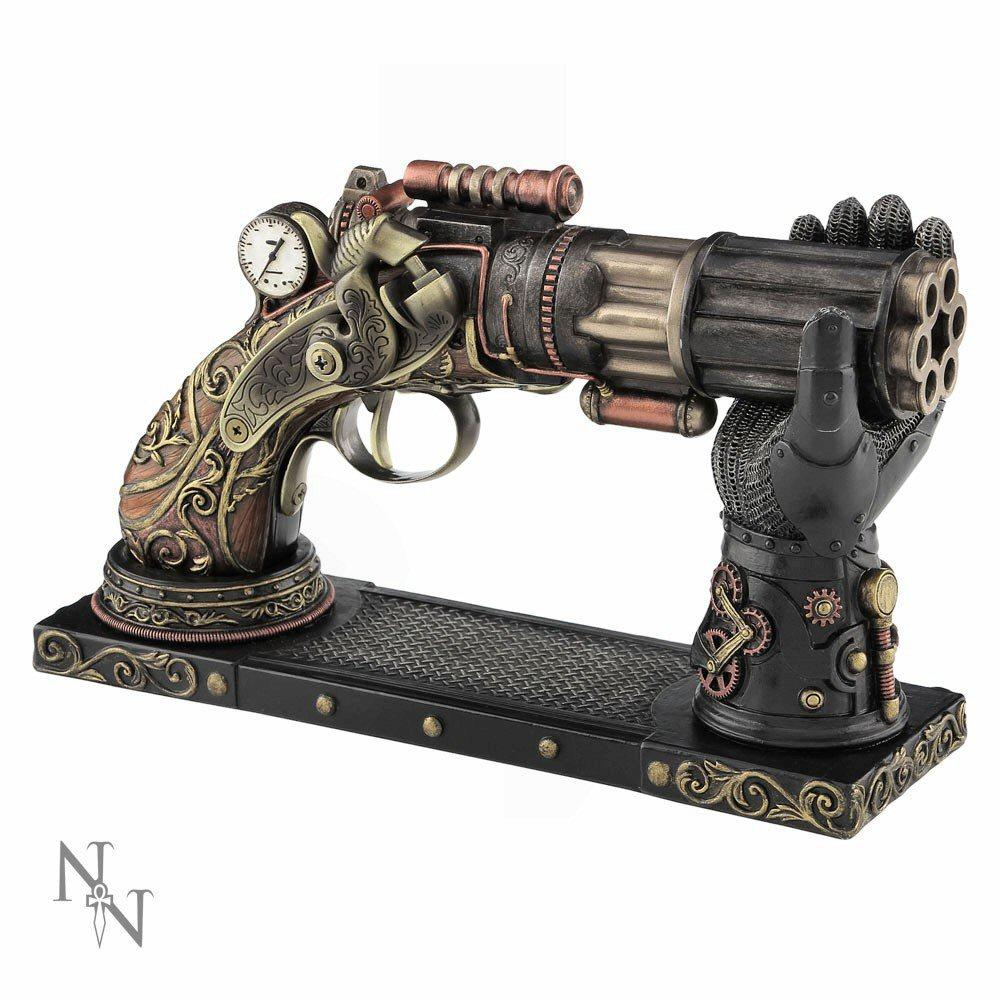Nock's High-Powered Steam Gun (c2440g6) - steampunk sculpture