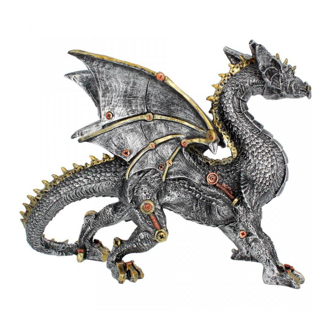 Dracus Machina (u2930h7) - steampunk dragon sculpture