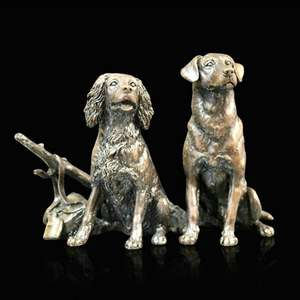 Waiting for the Guns - Bronze Gun Dog Sculpture - Keith Sherwin - 1072