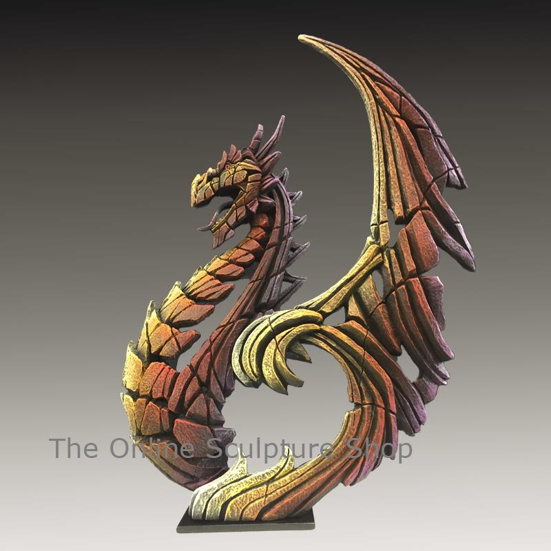 Heraldic Dragon - Fiery Brimstone - EDGE Sculpture ED27F