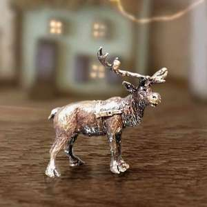 Reindeer - Miniature Bronze Christmas Sculpture - Butler & Peach 2089