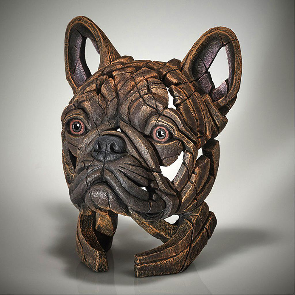 French Bulldog Bust - Brindle - EDGE Sculpture EDB28BR