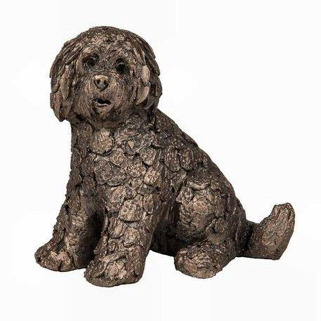 Shorty the Labradoodle - MINIMA Bronze Sculpture Adrian Tinsley ATM001