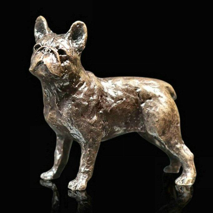 French Bulldog - Miniature Bronze Sculpture - Butler & Peach 2085