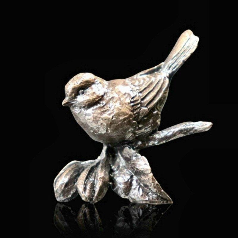 Bluetit - Miniature Bronze Bird Sculpture - Butler & Peach 2084