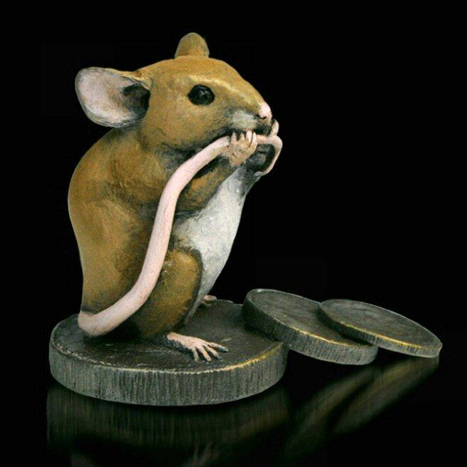 Mice with Old Pennies (234BR) by Michael Simpson