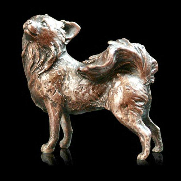 Small Chihuahua (915) in bronze by Michael Simpson