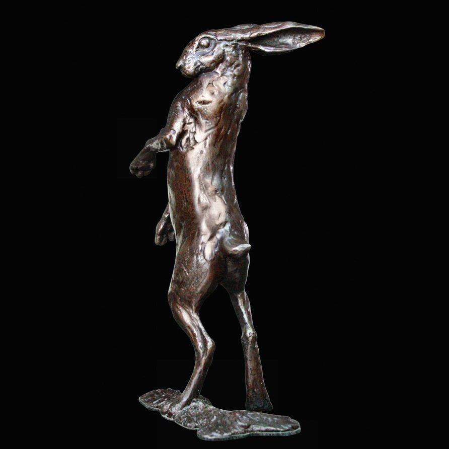 Hare Standing - Bronze Sculpture - Michael Simpson - Medium 406