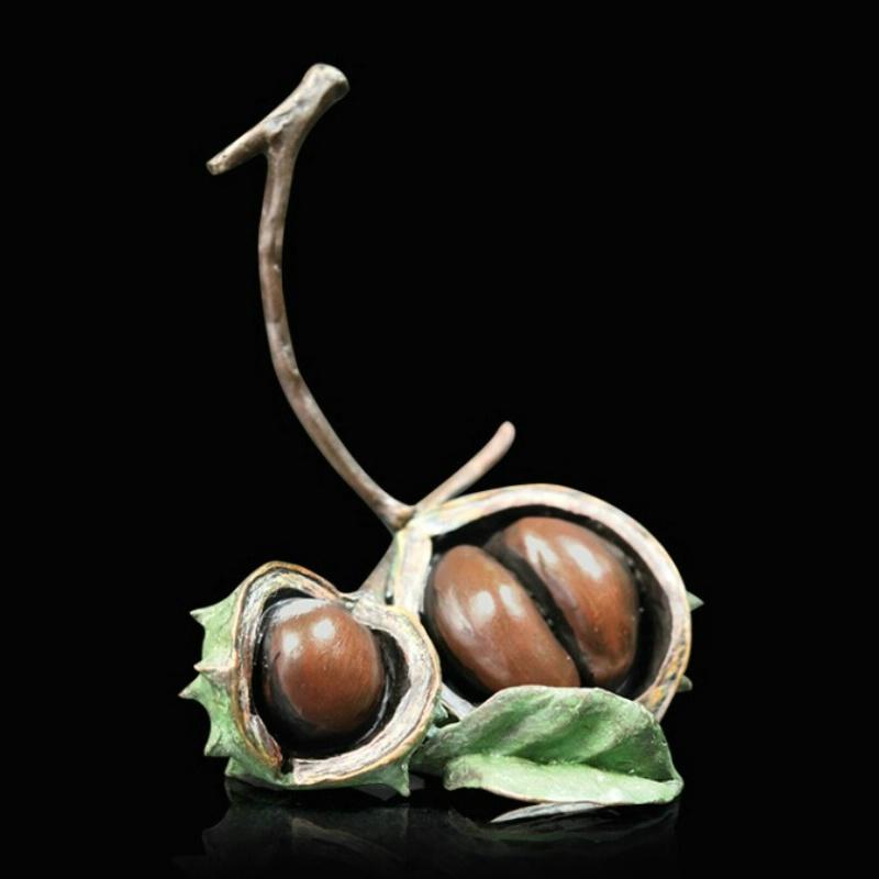Conker Pair - Bronze Sculpture - Michael Simpson 1042