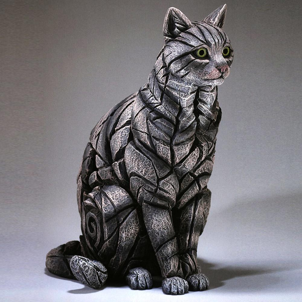 Cat Sitting - Tabby - EDGE Sculpture ED26T