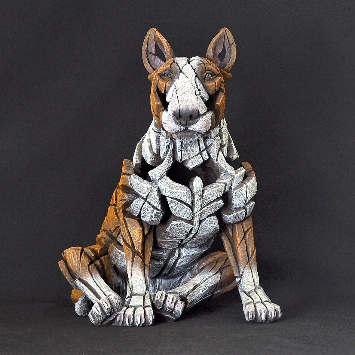 Bull Terrier Sitting - Red ED23R EDGE by Matt Buckley