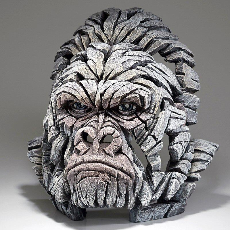 Gorilla Bust - White EDB05W EDGE by Matt Buckley