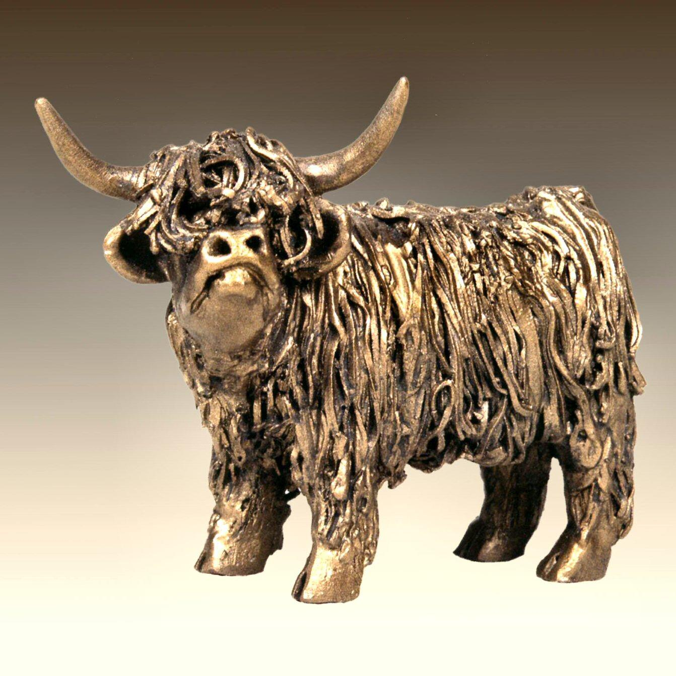 Highland Cow Standing - junior (VB076) by Veronica Ballan