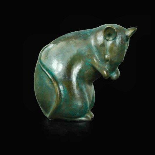 Mouse  (330) - Bronze Sculpture by David Ivey