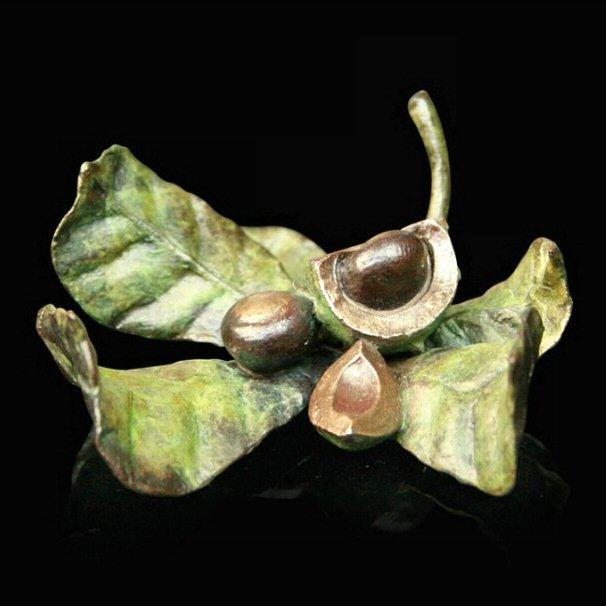 Conker Scene (711) in bronze by Michael Simpson