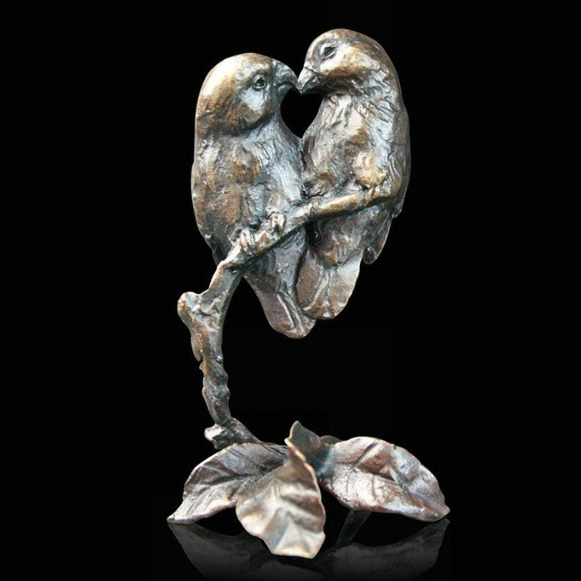 Lovebirds (752) in bronze by Michael Simpson